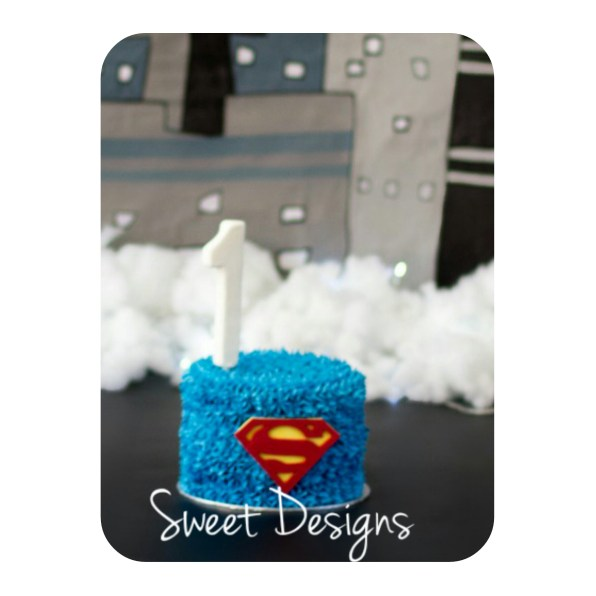 Superman Buttercream Cake