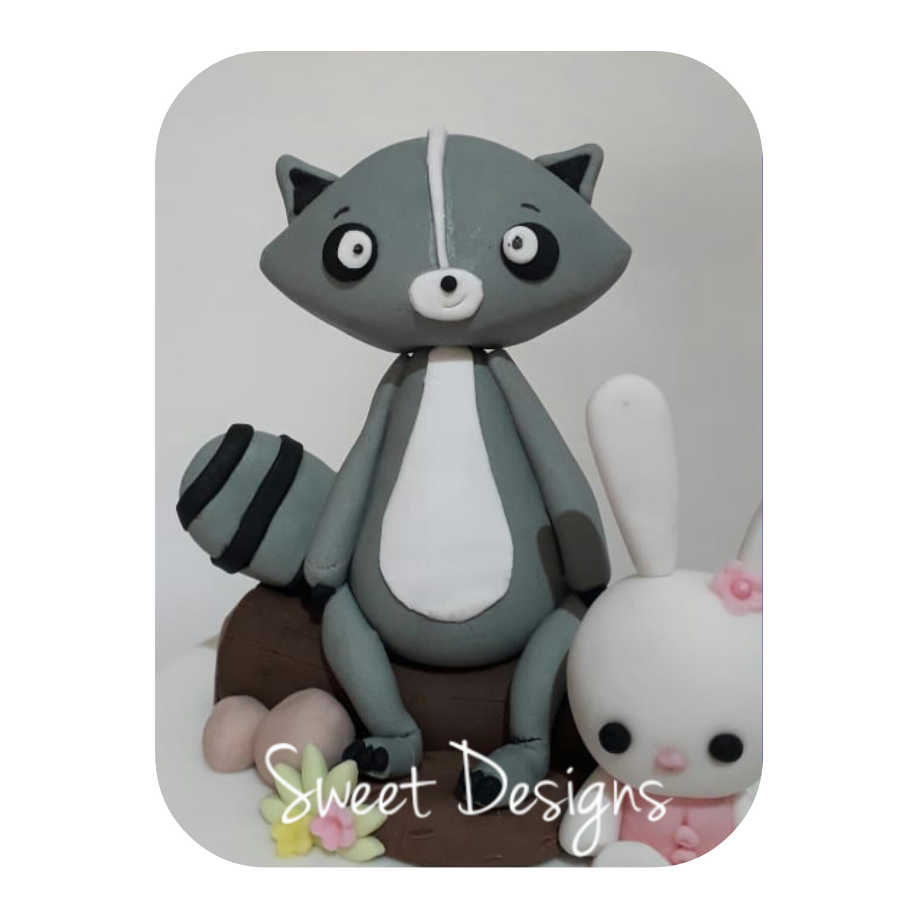 Cake Topper Raccoon