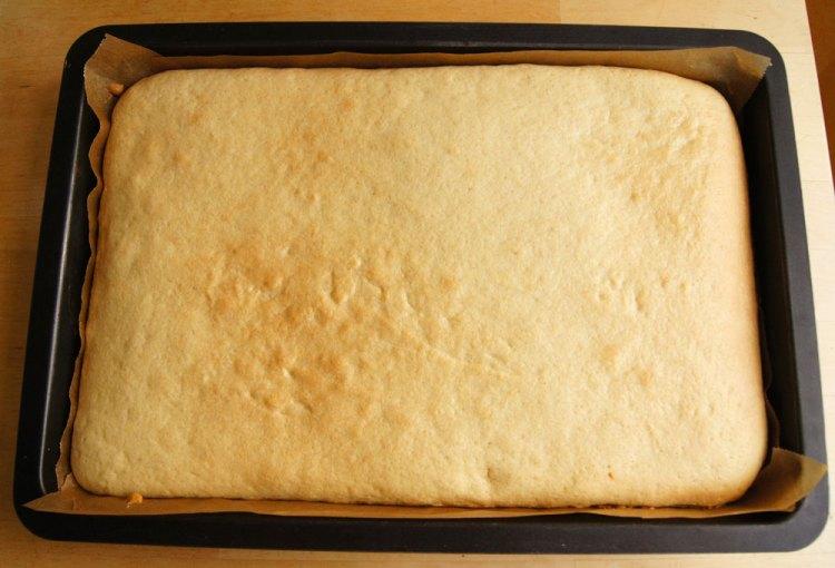 angebackener Kuchenboden
