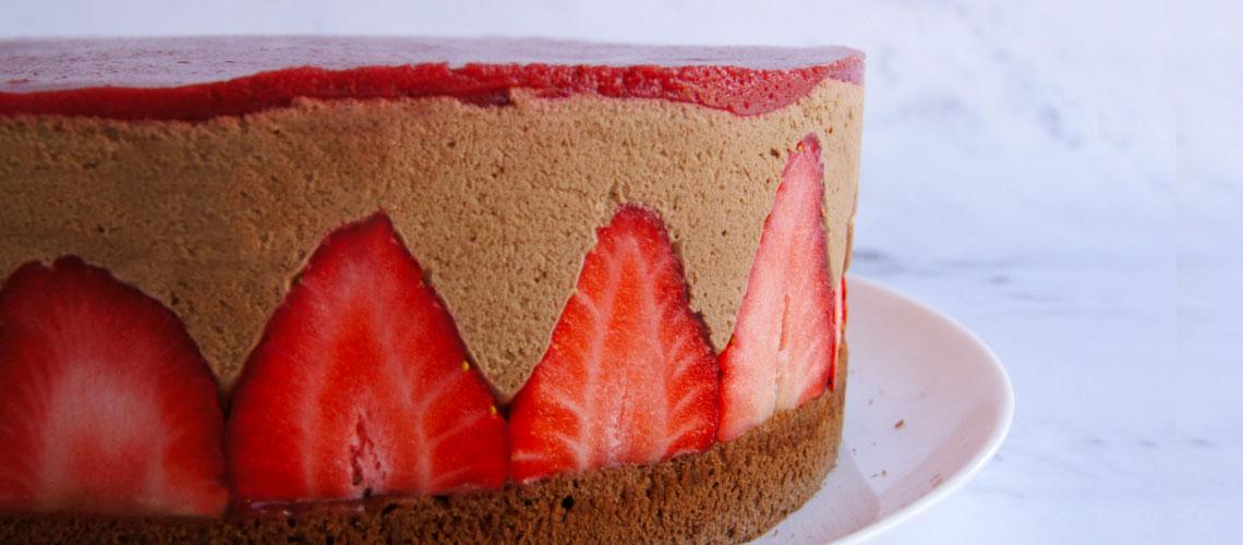Erdbeer-Schoko-Mousse-Torte