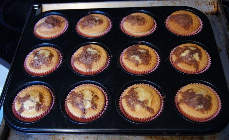 Muffins gebacken