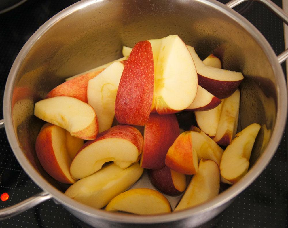 Äpfel vorbereiten