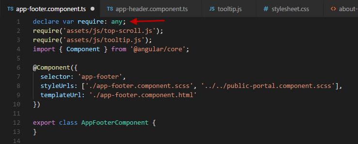 angular 'require' fix