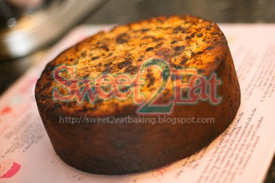 Traditional Christmas Fruit Cake with Brandy