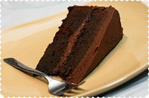 Chocolate Butter Cake with Chocolate Buttercream