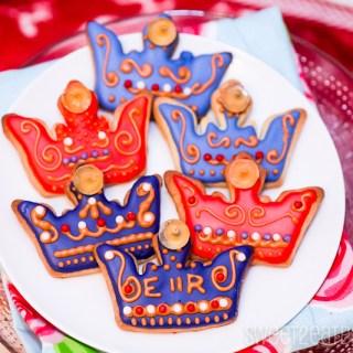 Diamond Jubilee Crown Cookies
