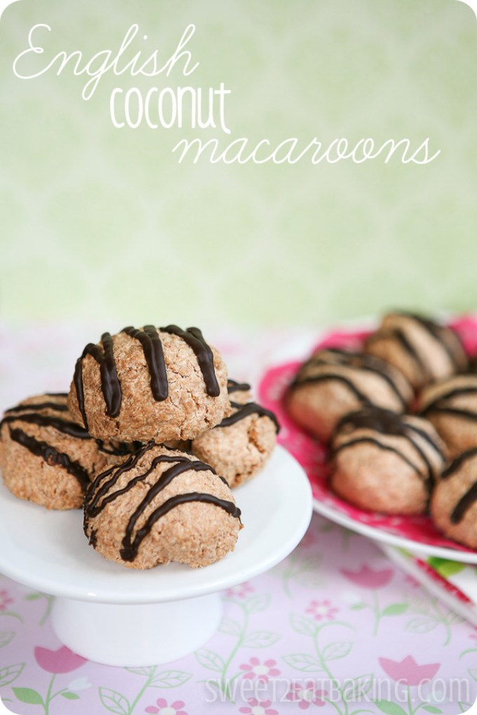 English Coconut Macaroons Recipe by Sweet2EatBaking.com