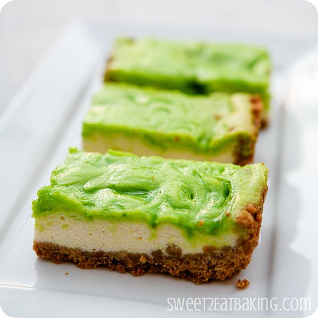 Key Lime Cheesecake Bars by Sweet2EatBaking.com