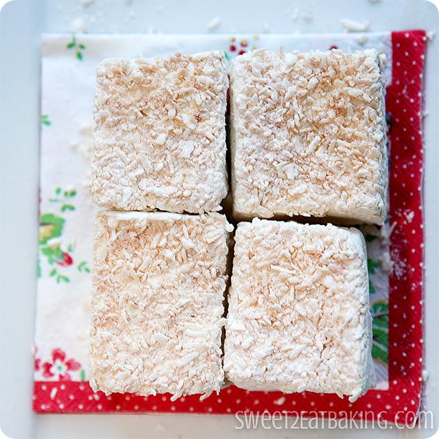 Toasted Coconut Vanilla Bean Marshmallows Recipe by Sweet2EatBaking.com