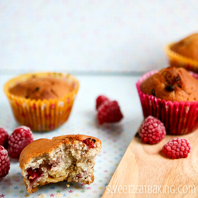 White Chocolate and Raspberry Muffins