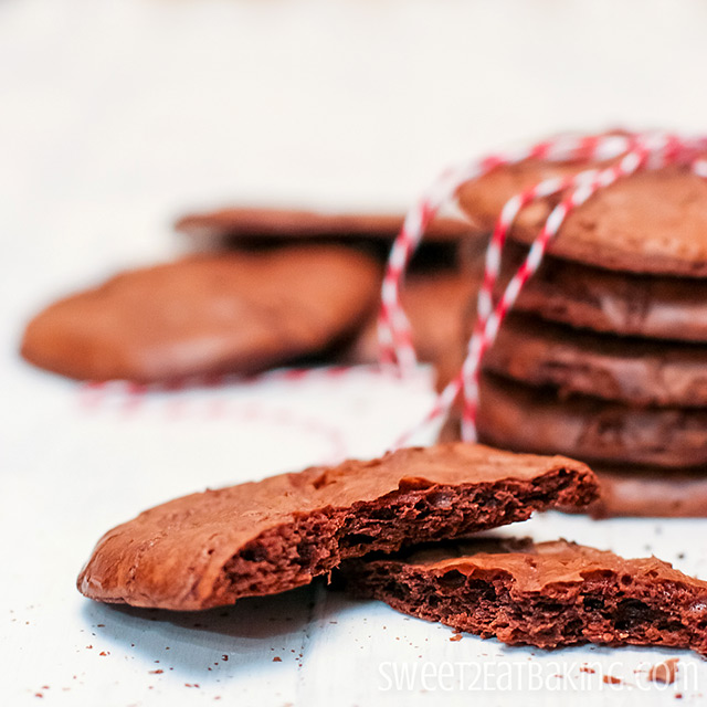 Chocolate Brownie Cookies  by Sweet2EatBaking.com