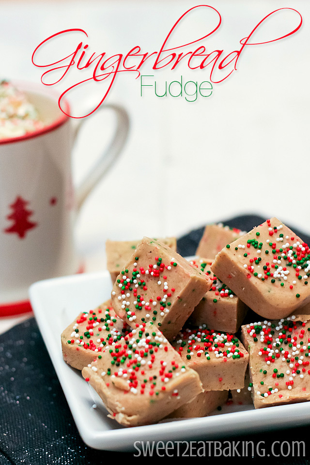 Gingerbread Fudge by Sweet2EatBaking.com