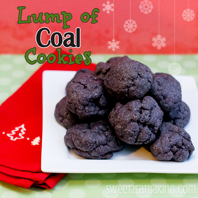 Lump of Coal Cookies  Christmas  Festive Recipes