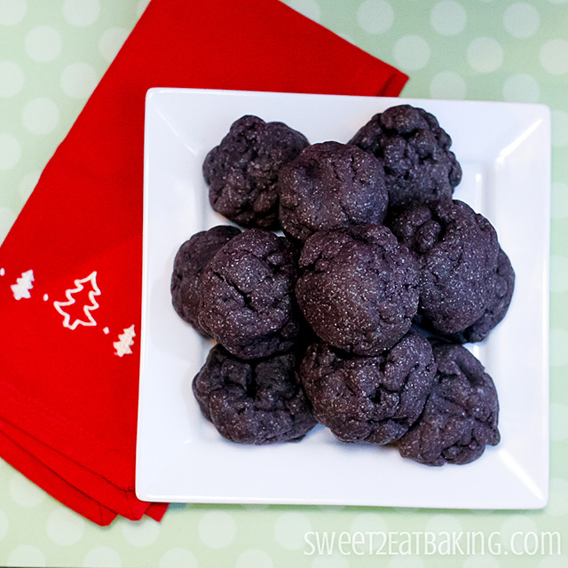 Lump of Coal Christmas Cookies by Sweet2EatBaking.com