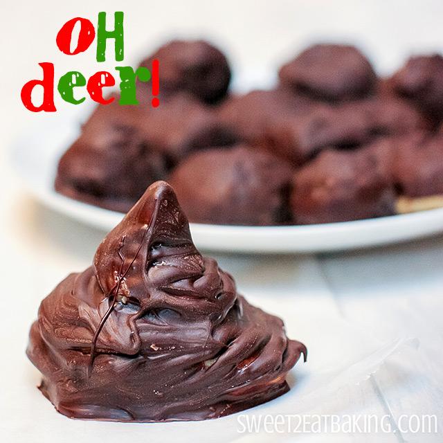 Reindeer Poop Peanut Butter Balls Recipe by Sweet2EatBaking.com