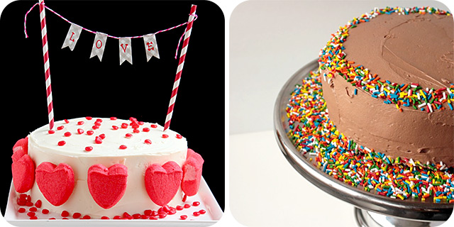 Simple, yet Pretty Valentine's Cake   Nutella Cloud Frosting