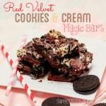 Red Velvet Cookies & Cream Magic Bars