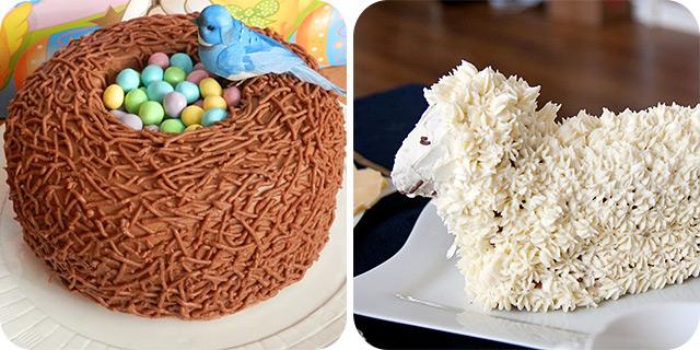 Easter Bird Nest Cake   Easter Lamb Cake