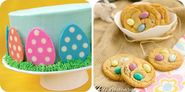 Polka Dot Easter Egg Cake | Easter Egg Cookies