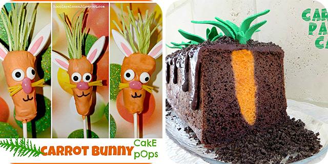 Carrot Bunny Cake Pops | Carrot Patch Cake