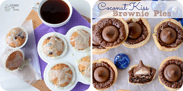 Lime Chocolate Chip Muffins | Coconut Kiss Brownie Pies