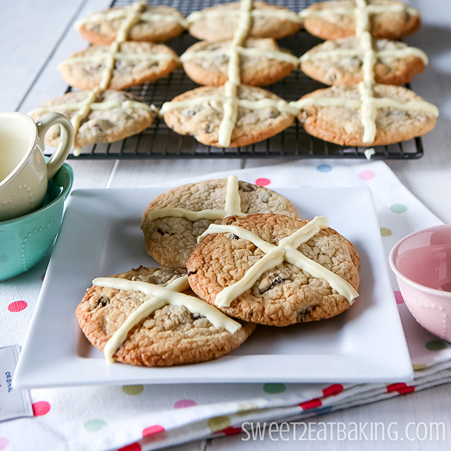Hot Cross Cookies Recipe for Easter by Sweet2EatBaking.com