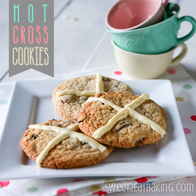 Hot Cross Cookies Recipe by Sweet2EatBaking.com