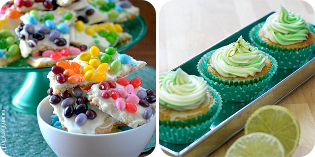 Rainbow Sugar Cookie Bark | Cucumber and Lime Cupcakes