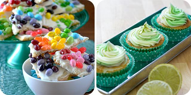 Rainbow Sugar Cookie Bark | Cucumber and Lime Cupcakes