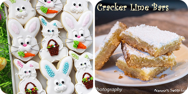 Easter Bunny Sugar Cookies | Animal Cracker Lime Bars