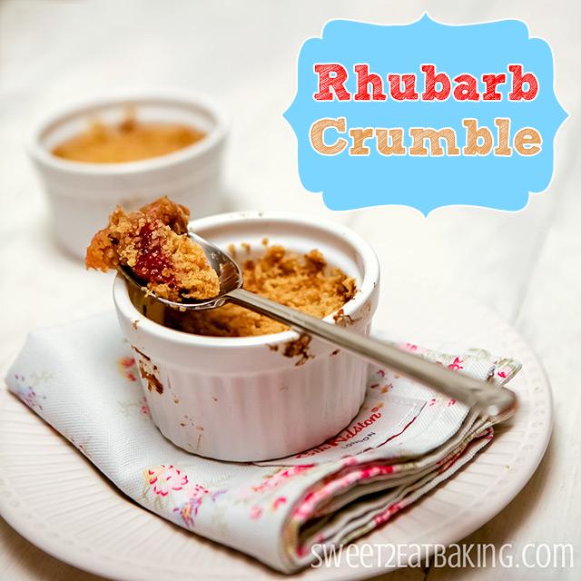 Amaretti Rhubarb Crumble Recipe by Sweet2EatBaking.com