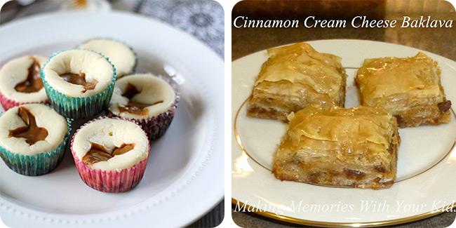 Dulce De Leche Cheesecake Bites {Grain Free} | Cinnamon Cream Cheese Baklava