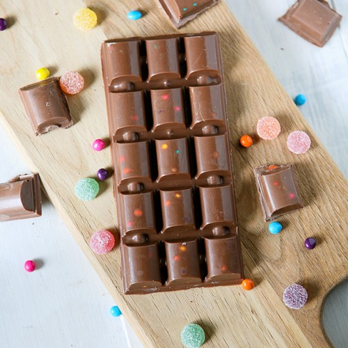 DIY Homemade Copycat Dairy Milk Marvellous Creations Jelly Popping Candy Shells Chocolate Bar