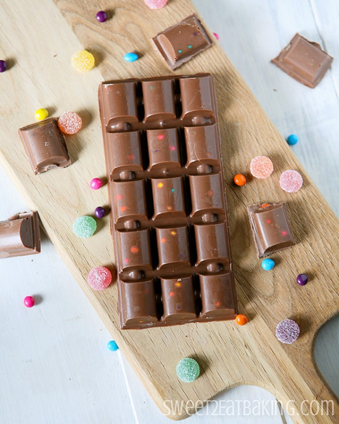 Copycat Cadbury Marvellous Creations Chocolate Candy Bar Recipe by Sweet2EatBaking.com