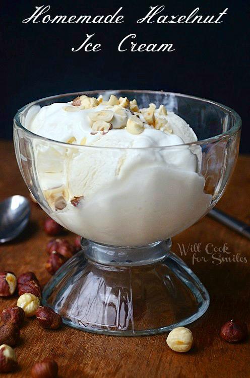 Homemade Hazelnut Ice Cream
