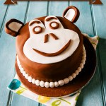 Chocolate Chimp Monkey Face Birthday Cake
