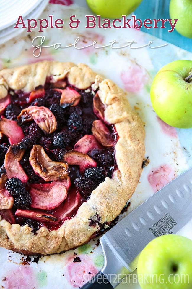 Apple and Blackberry Galette #cbias #shop #apple #blackberry #galette #recipe