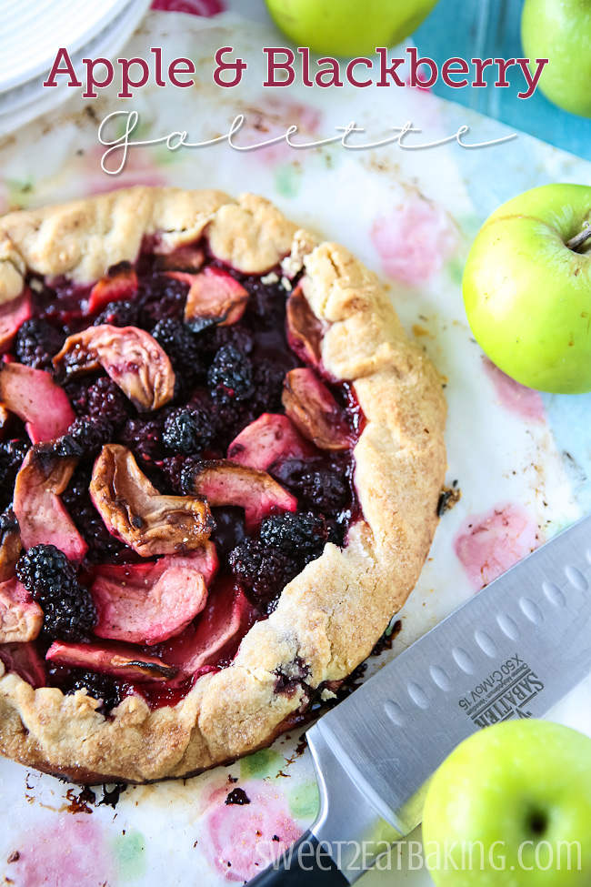 Apple and Blackberry Galette #cbias #shop #apple #blackberry #galette #recipe