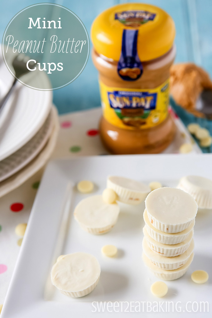 Mini White Chocolate Peanut Butter Cups | Sweet 2 Eat Baking #peanutbutter #cups #recipe