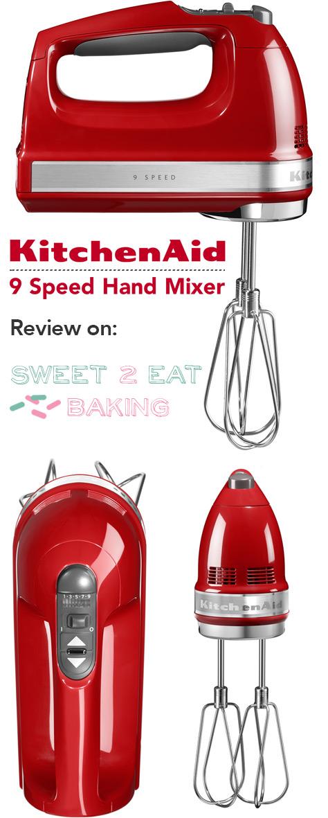 KitchenAid 9-Speed Hand Mixer in Empire Red