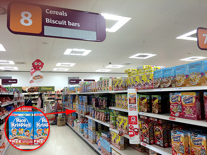 Kellogg's Cereals at Sainsbury's