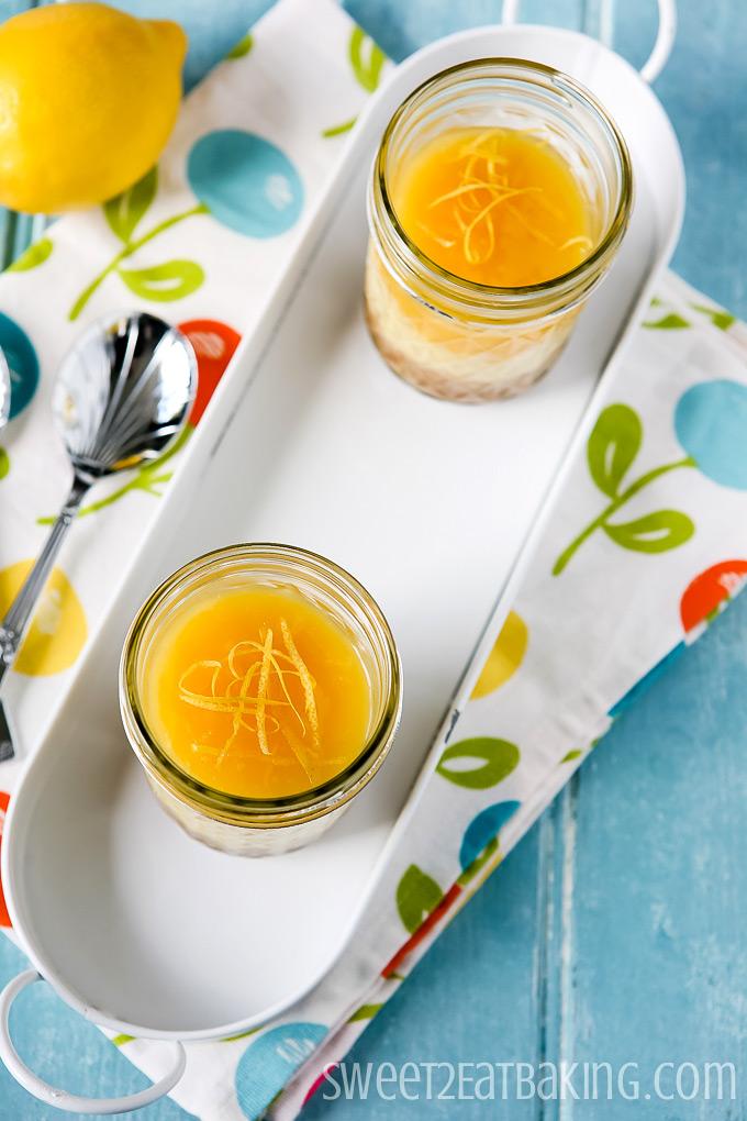 No Bake Lemon Curd Cheesecakes Recipe by Sweet2EatBaking.com