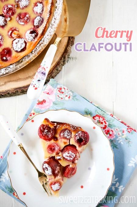 Cherry Clafouti Recipe by Sweet2EatBaking.com