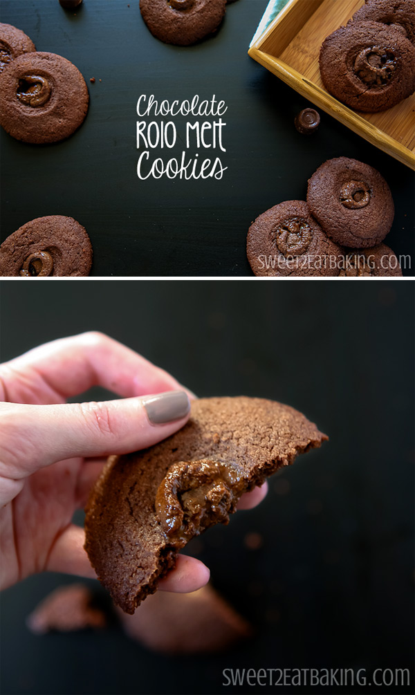 Chocolate Rolo Melt Cookie Recipe by Sweet2EatBaking.com