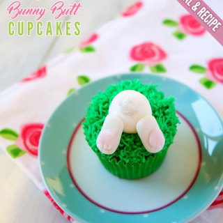 Easter Bunny Butt Cupcakes [Recipe & Tutorial]