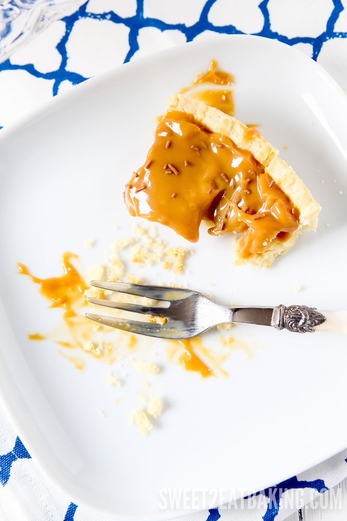 Quick & Easy Caramel Tart Recipe by Sweet2EatBaking.com