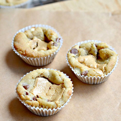 Chocolate Chip Cookie Cups by Sweet2EatBaking.com