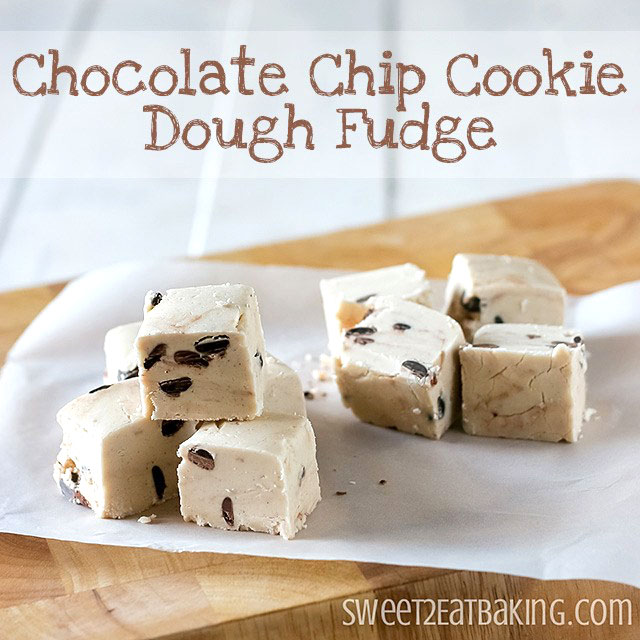 Chocolate Chip Cookie Dough Fudge by Sweet2EatBaking.com