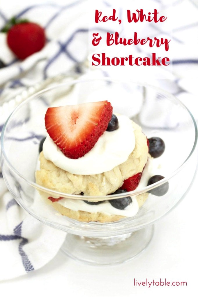 Red, White and Blueberry Shortcake