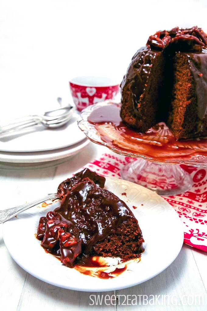 Sticky Toffee Christmas Pudding Recipe by Sweet2EatBaking.com